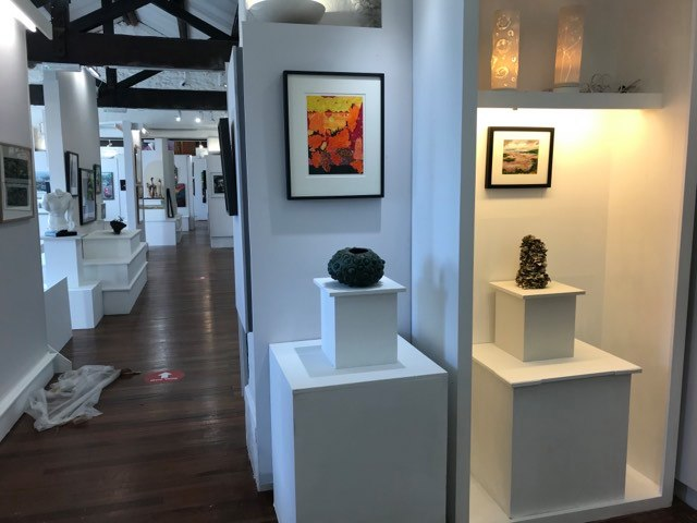 The Waterfront Gallery displaying the shortlisted art works for Wales Contemporary 2020